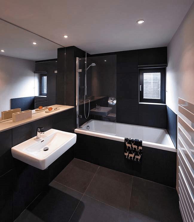 88 идей для ванной в черных тонах 29