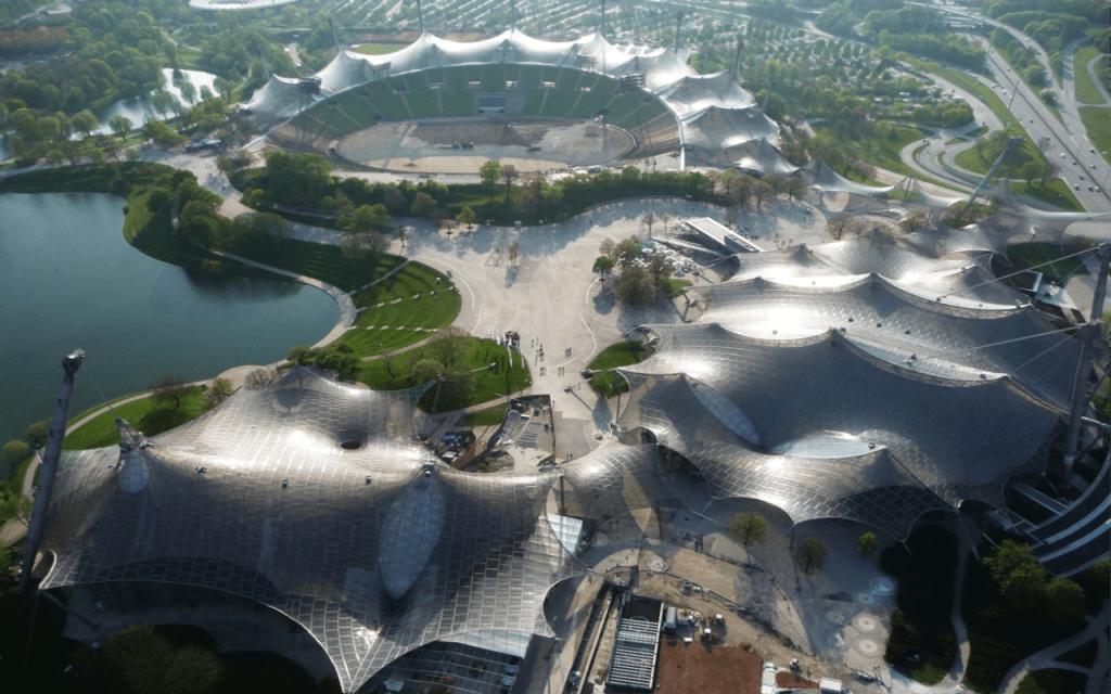Олимпийский парк Летних Олимпийских Игр 1972 год. Мюнхен