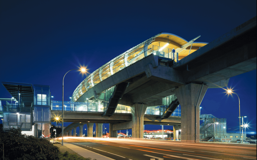 perkinswill_Brentwood_Skytrain_Station_Exterior_Night