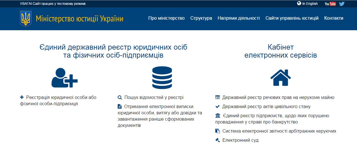 Как узнать владельца недвижимости через госреестр Фото: https://minjust.gov.ua/ua/services