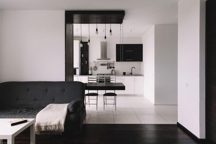 Черно-белая палитра в дизайне