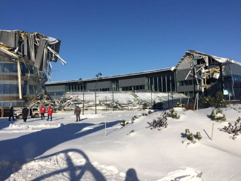 В Астане на EXPO 2017 рухнуло здание