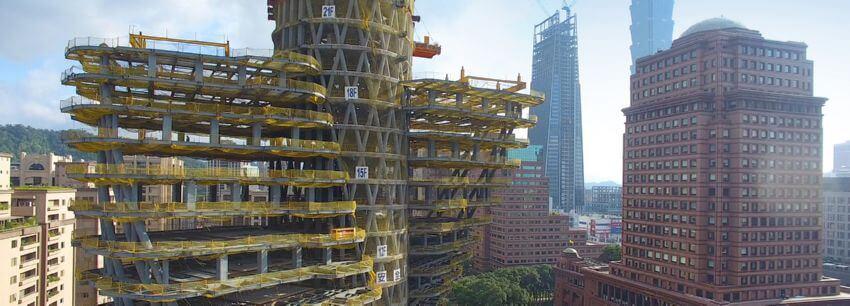 Строительство вращающейся башни