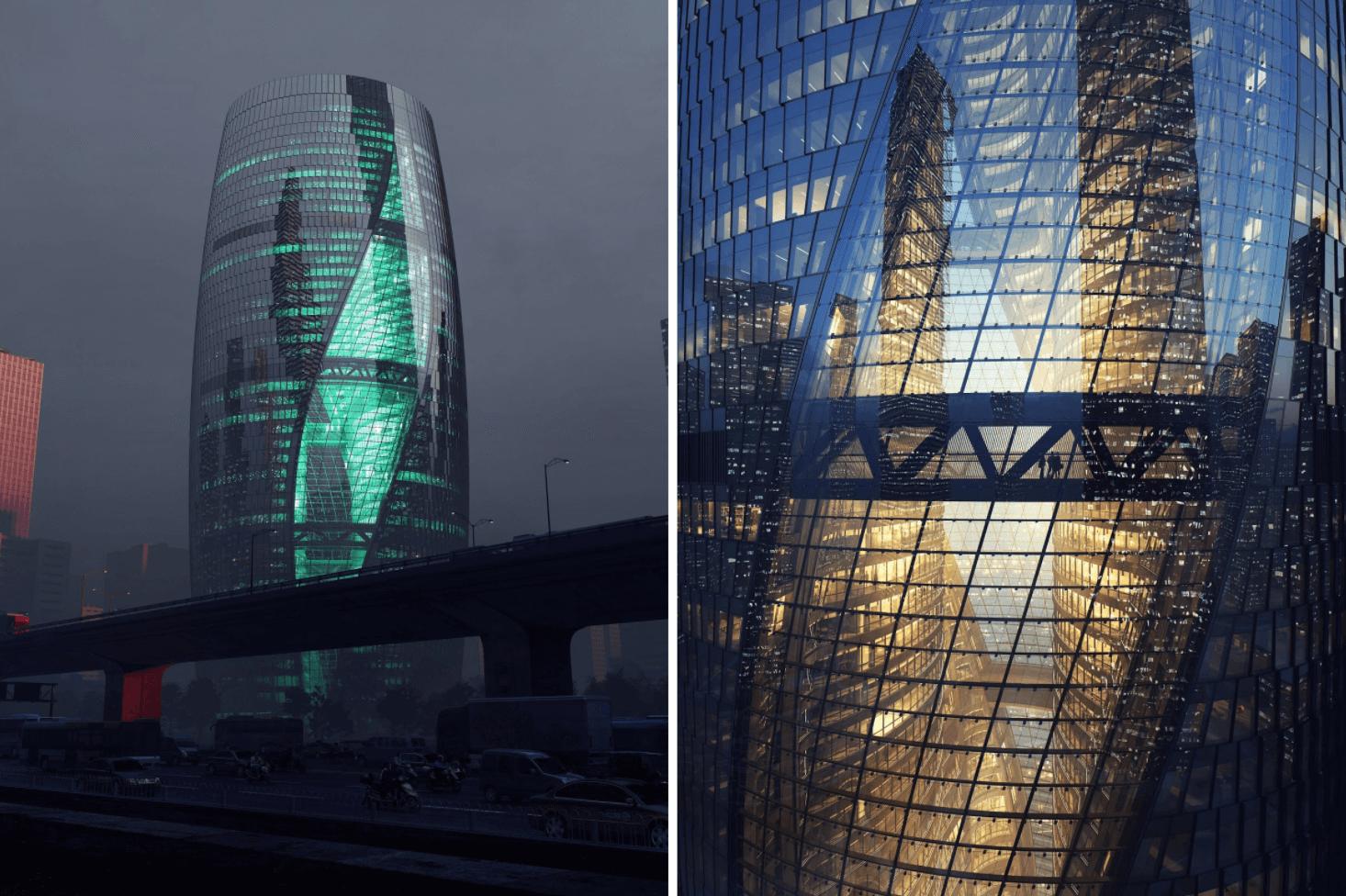 Уникальная башня Leeza Soho