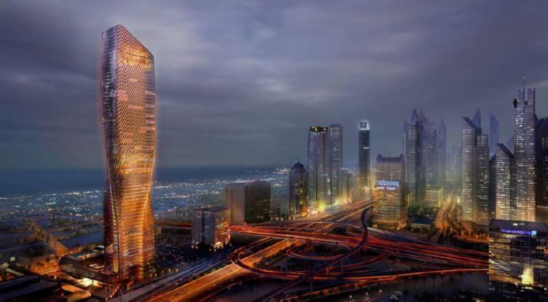 Wasl Tower небоскреб на солнечной энергии