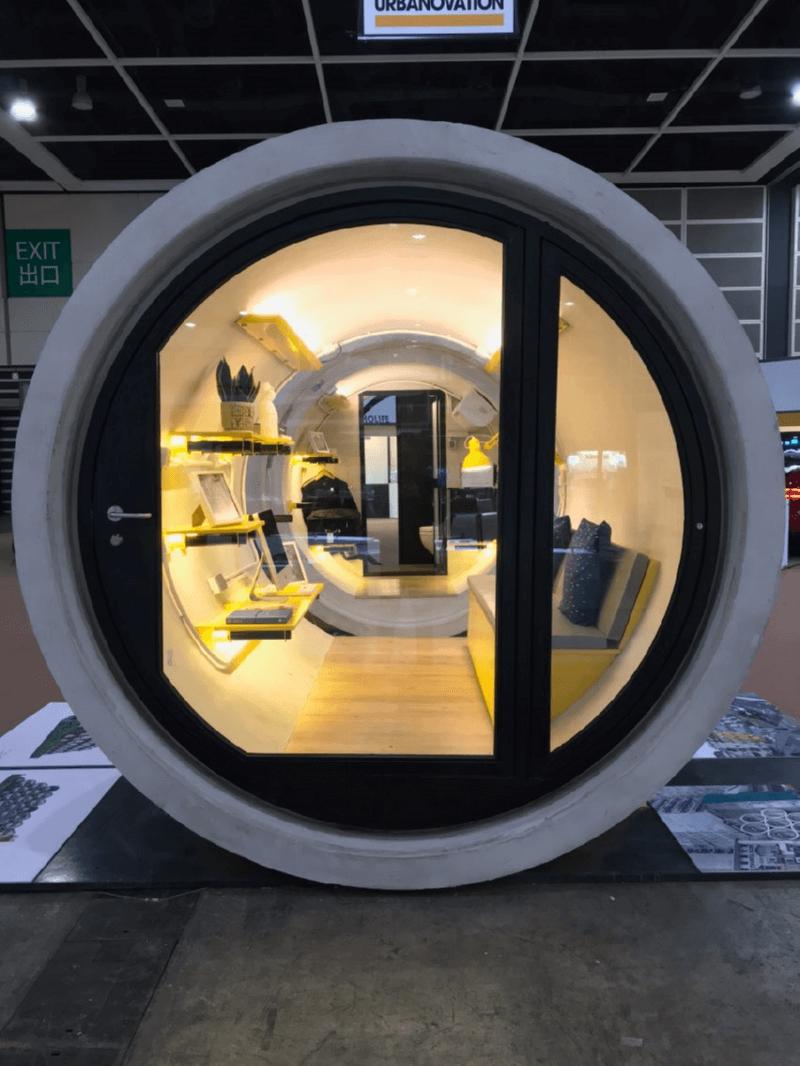 Микроапартаменты в бетонных трубах