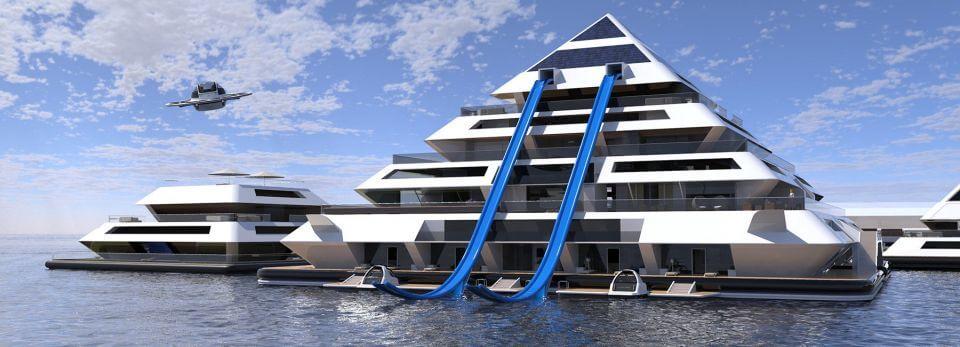 Wayaland город плавающих пирамид