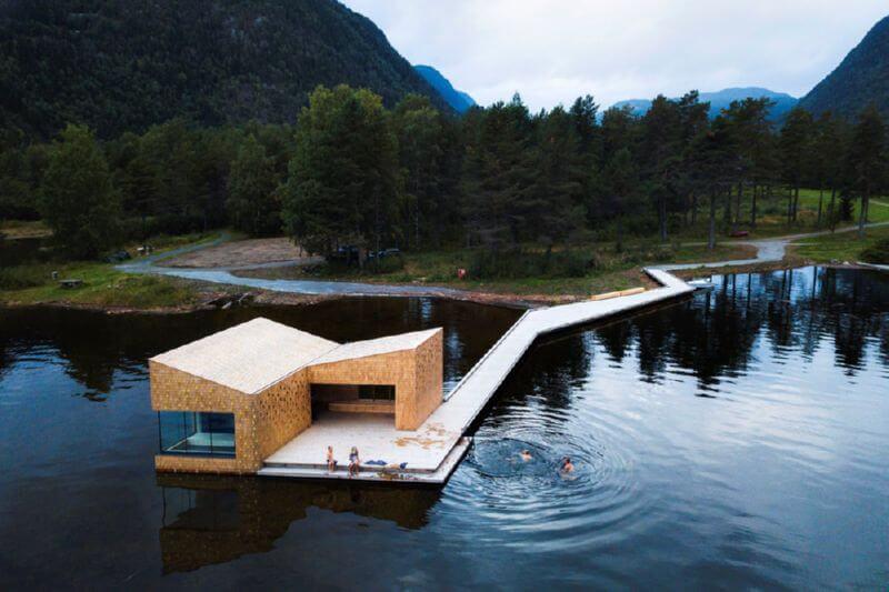 Необычная сауна в Норвегии
