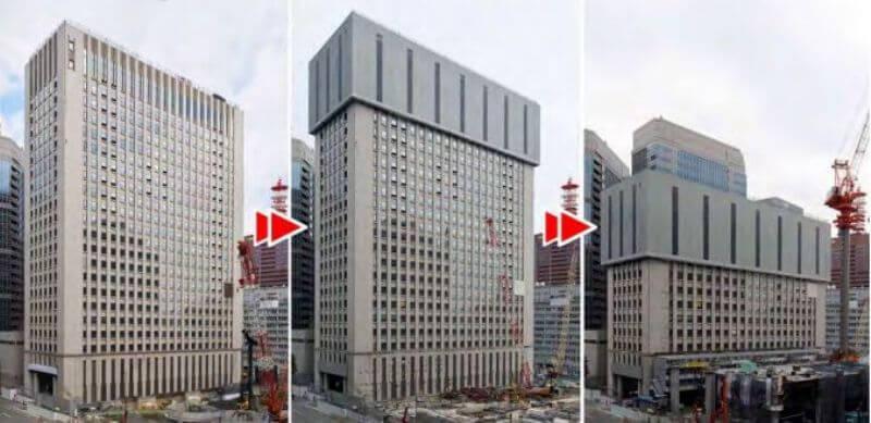 Японцы предложили новый способ демонтажа зданий